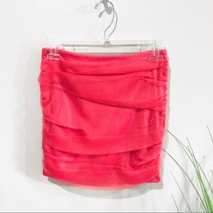 Guess pink ruched mini skirt S